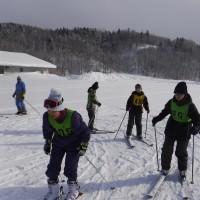 1年生、初スキー授業