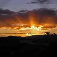 日の入り/薄明光線。