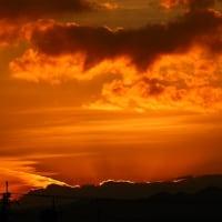 大山の夕焼け
