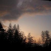 どんよりとした朝の空、けっこう寒いし。3月24日の夕景
