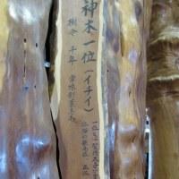 一位の木で作られた 箸  合格祈願のお守りにもなるんです。