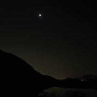 2017/1/3天体ショー(月と土星接近と金星と)