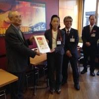 DEC.10th,2013 永福町「おめでたい」切手の贈呈式