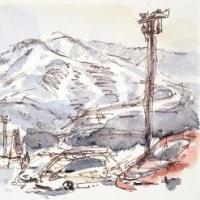 大雪の「高速ひるがの高原」-2