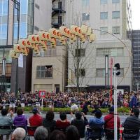 虎の門で東北六魂祭パレード
