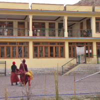 北インド・ラダック地方の自然と僧院-3 (リキルゴンパ )