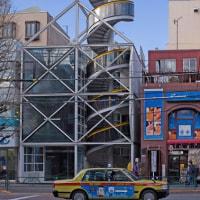 2017.02.13 中野区中央4 青梅街道: ドリル刃形の建物