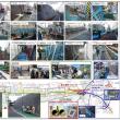 6/5(月)午後、小石川車両基地付近石積み擁壁耐震補強工事の見学