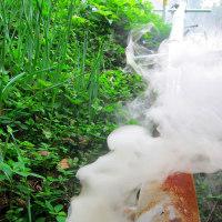 今季、初めての竹炭焼き・・・。