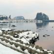 2017北海道の旅・・・未明の知床・・・・ウトロ港と・・・オロンコ岩の見える風景