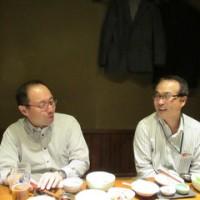 大塚先生を囲んでの食事会