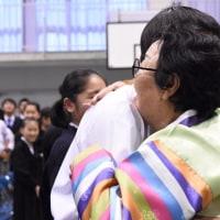 日本軍性奴隷被害者の李容洙ハルモニが広島初中高を訪問