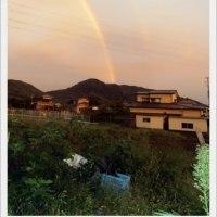 二重の虹を見ました
