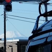 ちらっと見えた富士山