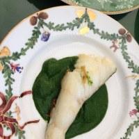 白身魚のポワレ・グリーンソース添え