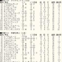 「ダイヤモンドS」「京都牝馬S」のカバラ暗示付き出馬表