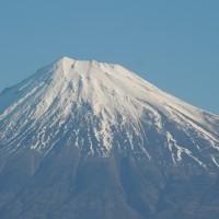 冬の 富士山 朝 昼 夕