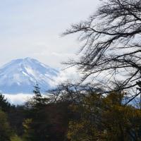 晩秋の河口湖北岸からの富士山
