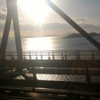 瀬戸大橋通過中
