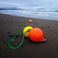 浮き球とイカメシ