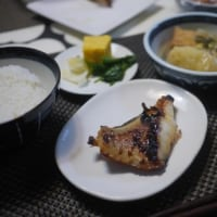 じゃがいものおでんと赤魚の西京焼でごはん