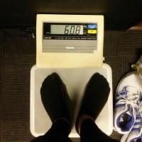 今日の体重60.8㎏