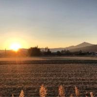 筑波山と日没