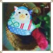 小さいくせに、ブルーのパッチワーク!子猫がま口バッグチャーム、完成♪ Hand Made In Japan Fesに持って行きます。