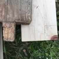 ヒノキのウッドデッキを作りました~2 材料取り