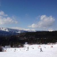 長男とスキーへ