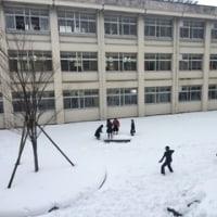 昼休みの雪合戦