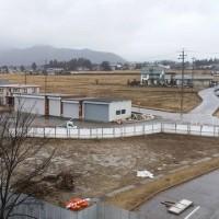 松川村役場西の子ども未来センターの工事の様子