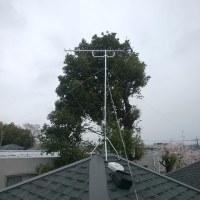 さすがに2日連チャンの小雨はきつい・・・アンテナ工事