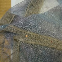 シルクオーガンジーのコートを自分で縫う