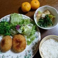 さつま芋コロッケの夕飯