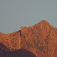 宝剣岳の夕照