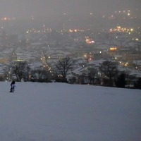 冷え込む日 金沢市大乗寺丘陵公園