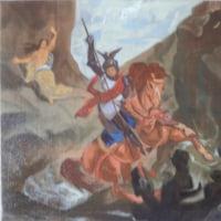 模写「怪竜と闘う聖ジョルジュ」「アンジェリカを救い出すルッジェーロ」「聖ゲオルギウスと竜」