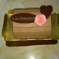 生チョコクリームのショコラシフォンケーキ