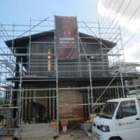 また外壁の雰囲気が変化しました ・・・ 新築施工中
