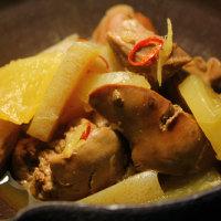 鶏肝のあっさり煮