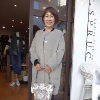 iriseイリゼ☆お袖タック・ノーカラーコート☆