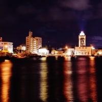 今治港の夕暮れ