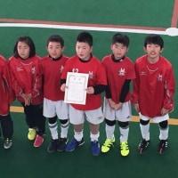 ながたドーム少年フットサル大会U10、ブロック優勝!