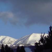 新雪の山々、、