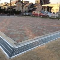 前田祇園山笠二番山の車庫の側溝が完成しました。去年の夏の祇園祭の時に要望があり、市に改善を要請...