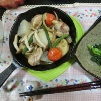 スキレット鍋の夕飯