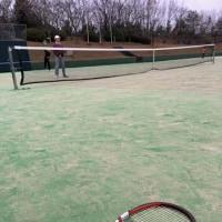 初テニス?