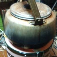 100均蝋燭で麦茶
