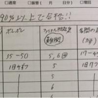 次男の成績上がってきた o(^_^)o